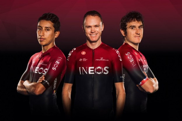 Egan Bernal, Christopher Froome i Geraint Thomas